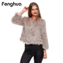 Fenghua 2018 Lady's Thick Warm Lambswool Sweater For Autumn Winter Women Sweater Pullovers Long Sleeve Casual Female Solid Tops(China)