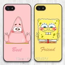 Best Friend SpongeBob Patrick cell phone Case Cover for iphone 4 4S 5 5S SE 5C 6 6S 7 Plus Samsung galaxy S4 S5 S6 S7 edge shell