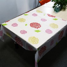 European garden waterproof disposable transparent frosted Coffee Table Mat High Temperature Resistant Oil Dustproof  Tablecloth
