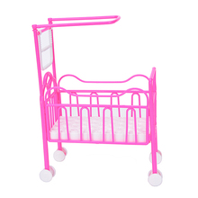 mini Doll Accessories Baby Bed Super Cute Bed For Small Kelly Dolls For Dolls Girls Gift Favorite Design Toys(China)