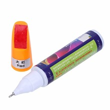 Car Scratch Pen Auto Motorcycle Tyre Tire Tread Touch Up Marker Paint Pen Red,White,Yellow Drop Shipping(China)