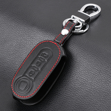 VCiiC 3 buttons Genuine Leather Car Key Case Cover For FIAT 500 Panda Punto Bravo Auto Key ,Car Styling