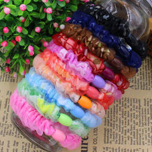 Lace Fabric Hair Holders Elastics 2015 New 10 Colours Fashion Candy Colours Women Rubber Bands  Girl's Tie Gum Hair Accessories