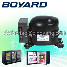 Zhejiang boyard R134A 12v 24v dc compressor QDZH25G replace bd35 for solar power refrigerator