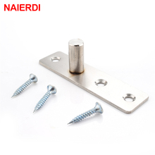 NAIERDI 195x25mm Stainless Steel Hinges 360 Degree Pivot Hinge For Revolving Hidden Door Furniture Hardware(China)