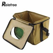 Relefree Foldable Fabric Portable Canvas square Fish Bucket Tackle Box Water Pail for Fishing Camping S Size(China)