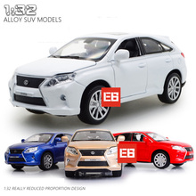 Hot 1:32 Scale simulation TOYOTA LEXUS SUV RX450H diecast car with music & light open door alloy model toys for kids gifts