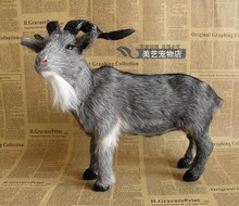simulation goat model,polyethylene& fur gray sheep large 33x16x26cm handicraft toy prop,home decoration Xmas gift b3768