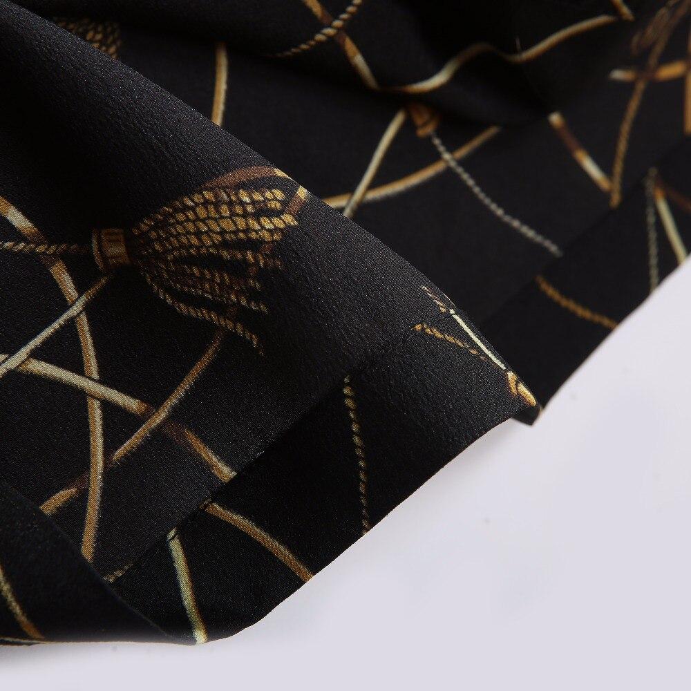 2018 Spring Women Fashion Blouse Bow Ribbon Striped Shirt Black Beige Casual Office Shirts Print Female Big Size Tops Zevrez 21