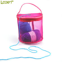 Looen Yarn Case Yarn Storage Baskets Knitting Yarn Round Plastic Bags On Traveling , Keep yarns away from cats,dogs and children