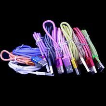 colorful 1m 3FT mesh fabric nylon net 8pin cable Accessory Bundles for iphone 5 5s 6 6plus suit for ios 8