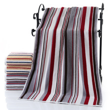 100% Cotton Bath Towel Striped Pattern Adults Fast Drying Anti-Bacteria towels For Home Bathroom Large toalla playa 70*140cm
