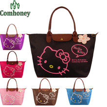 Hello Kitty Bag Women Designer Waterproof Shoulder Bag Cartoon Cat Shopping Girls Women Handbags Ladies Beach Bag Bolsa Feminina