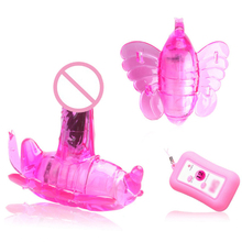 Davidsource Wireless RC Wearable Butterfly shaped Hidden Vibrator G-sopt clitoris vagina massager erotic adult LGBT sex toy