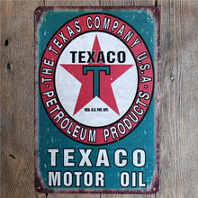 Vintage Home Decor Texaco Motor Oil Vintage Metal Tin Signs Retro Metal Sign Decor The Wall of Cafe Bar Home Custom Neon Sign