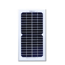 5 Watt 18V China Manufactured Cheap Solar Monocrystalline Panel Solar Price Portable PV Module For Camping Placa  Fotovoltaica
