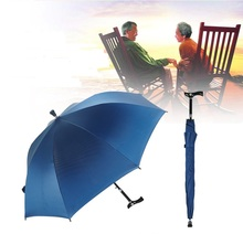 Auto open,unbreakable self-defense adjustable double-bridge carbon fiberglass climbing man's crutch umbrellas 100kg allowed