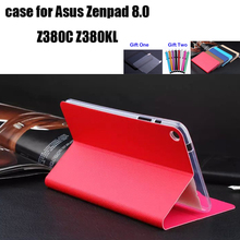 ZS case for Asus zenpad 8.0 z380 z380c z380kl protective cover folio stand case+screen protector+stylus