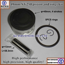 High performance high precision high quality for YAMAHA 250CC 4 strokes motorcycle 49mm XV250 piston and rings kit