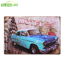 "Wholesale Motel Tree Car Tin Sign 8""x12"" Metal AD Sign Bar/Pub/Garage Wall Decor Metal Sign Vintage Home Decor Metal Plaque"