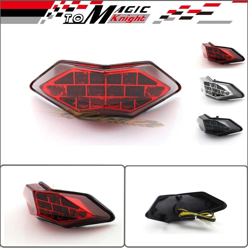 Motorcycle Integrated LED Tail Light Turn signal Blinker For KAWASAKI Z250 NINJA 250/300 2013-2014 Red<br><br>Aliexpress