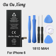 Original Da Da Xiong Battery For 4.7inch Apple iPhone 6 6G 1810mAh Real Capacity With Machine Tools Kit Replacement Batteries