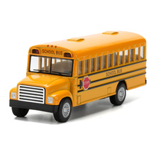 "KiNSMART 5"" School Bus Toy, Die cast Metal & ABS Students Shuttle Car Model, Pull Back Cars For Boys, Kids Toys, Brinquedos Gift(China)"