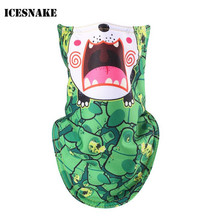 ICESNAKE Children Kids Winter Fleece Lined Thermal Ski Mask Full Face Mask 3D Printed Triangular Scarf Skiing Mask(China)