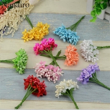 10pcs/lot Colored Artificial floral pistils and stamens for flowers Wedding Beads Flower Diy Handmade Flowers Wedding Decoration(China)
