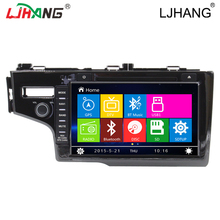 Cheap Factory Price Car Accessories For FIT 2014 Left Bluetooth Car DVD Player som automotivo para carro RDS FM AM MP3 SWC USB