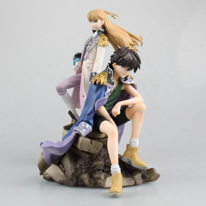 Anime Gundam Wing Heero Yuy Relena Peacecraft 1/8 Scale PVC Action Figure Resin Collection Model Toy Doll Gifts<br>
