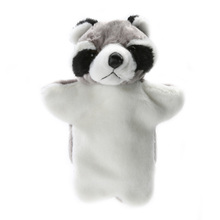 Cute Tanuki Hand Puppet Baby Kids Developmental Plush Doll Game Playing Toy School Art Performance Toys for Children