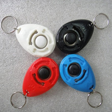 1 Pcs New Dog Pet Clicker Dog Training Trainers With Key Chain Pets Supplies Pet dog cat tools(China)