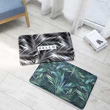 40x60cm High Quality Carpet Green Leaf  Flamingo Floor Front Entrance Mat For Living Room Bedroom Tapete Soft Rubber Dog Doormat