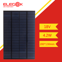 ELEGEEK 4.2W 18V 200*130mm DIY Solar Cell Polycrystalline PET + EVA Laminated Mini Solar Panel for Solar System and Test
