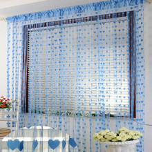 100x200cm Heart Line Tassel String Door Curtain Window Room Divider Curtain for Living Bedroom Decor