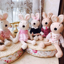 X-KS BEAR Sugar rabbit doll, plush toy doll talking dolls, appease sleep gifts, children's gifts, Christmas gifts