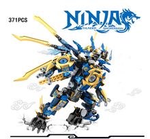 2017 Phantom Ninja Blue spirit flame Dragon mecha go building block model jay swordsman figures bricks toys boys gifts - ToysKingdom store