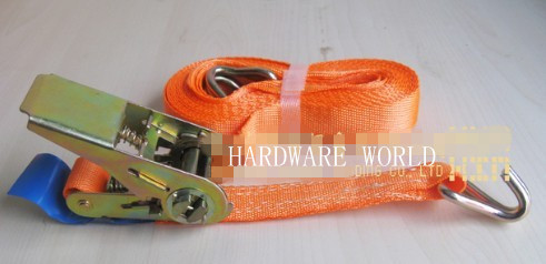 New1pcx 50mm x 5m  10,000lb Ratchet Strap J Hook Ratcheting Tie Hold Down HEAVY DUTY<br>