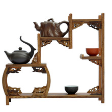 Ming and Qing furniture mahogany wenge side drum curio shelf Shelf antique jewelry swing frame factory direct