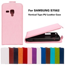 PU Leather Flip Cover For Samsung Galaxy Trend Plus GT S7580 / Trend Duos GT S7562 S7560 \ S Duos S7582 7562 Cases Housing Shell