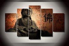 Direct Selling Sale HD Buddha Group Painting Canvas Print Room Decor Picture Free Shipping Wall Panels For Living Room Poster(China)