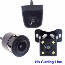 No Guiding Line Car Parking Monitor Parking Assistance View Camera 4 LED HD CCD Wire Waterproof Auto Rear View Camera(China)