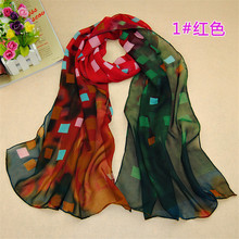2016 popular chiffon shawl scarf checkered shawl dream for women free shipping 160 * 50 cm(China)