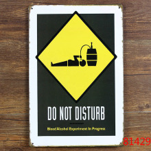 "Direct selling ""DO NOT DISTURB""Tin sign tinplate vintage metal painting for bar decration wallpaper 20X30 CM"