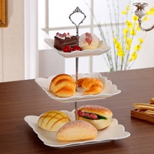 Cake Plate Stand Holder Round Acrylic Fruit Cookie Cupcake Fondant Cake Mold 3 Tier Fitting Hardware Plate Holder