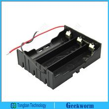 DIY 3-Slot Series 3x3.7V 18650 Battery Holder Case Storage Box with 2 Wire Leads for 3*18650 (3Pieces/Lot)