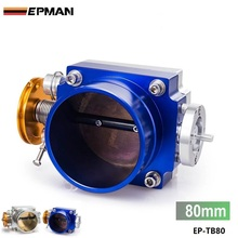 EPMAN- Universal Aluminum 80MM 3.25inch CNC Billet Intake Throttle Body Racing EP-TB80(China)