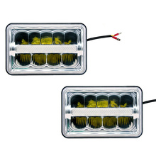4 x 6'' Led Sealed Beam (One Pair) Headlight High/Low Beam With Parking DRL For Ford Mustang Chevy Camaro Iroc-Z  Kenworth Truck