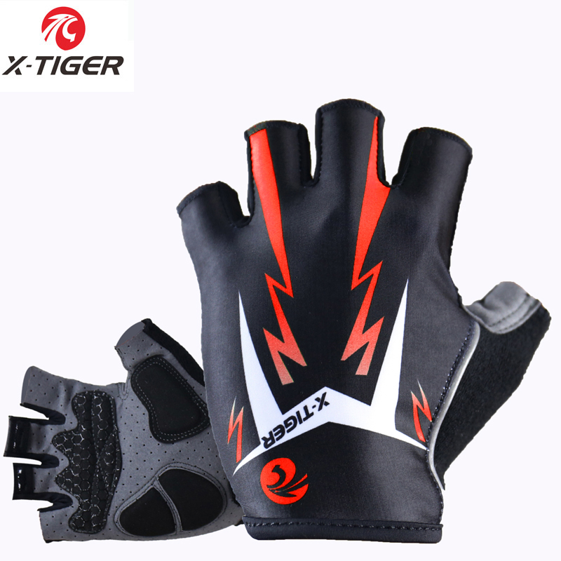 X-Tiger 3D GEL Pad Bright Green Sport Gloves With Reflective Half Finger MTB Bike Gloves Cycling Gloves Mountain Bicycle Gloves 13